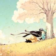 qq头像手绘插画风景 唯美的动漫插画风景头像图片大全