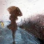 雨中撑伞女孩背影图片头像 伤感的女子雨中撑伞背影头像