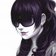 手绘戴墨镜女生头像图片