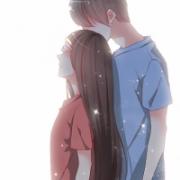 qq头像动漫情侣两人 一张,非常地暖心