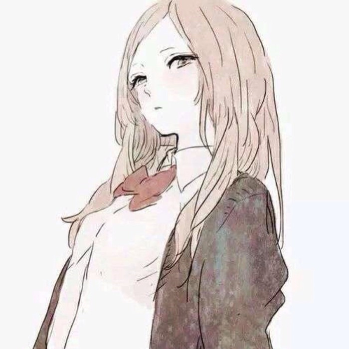 动漫高冷长发女头