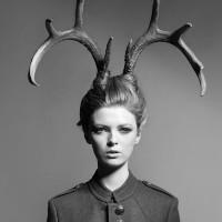 鹿角女孩头像