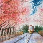 樱花列车漫画头像图片