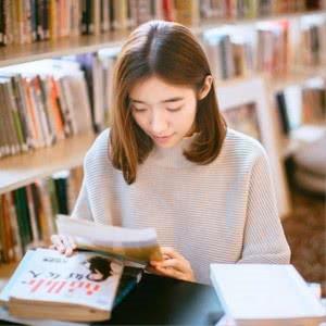 安静看书头像图片