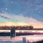 唯美梦幻火车风景头像图片