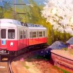 开往故乡与家的列车头像图片 表达思念故乡与家