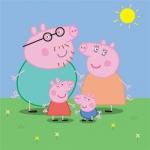 小猪佩奇一家图片头像 高清温馨的小猪佩奇一家四口头像图片