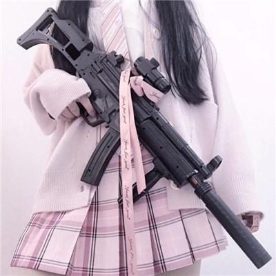 吃鸡头像女生拿枪图片