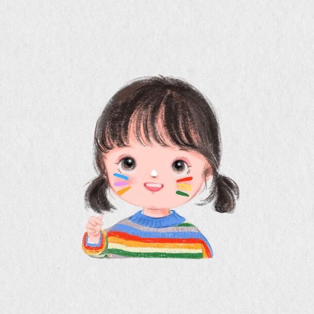 手绘小女孩头像超萌图片