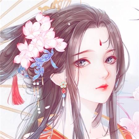古风女眉间有花纹头像