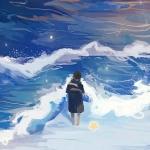 海边孤独背影头像图片 孤独感如潮水般涌入内心