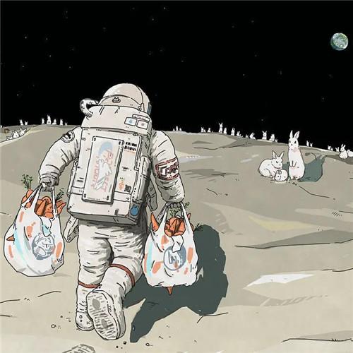 宇航员拎着胡萝卜情侣头像