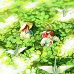 日系治愈漫画头像图片 捕捉春天的气息