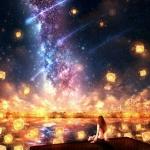 满天星空孔明灯头像图片