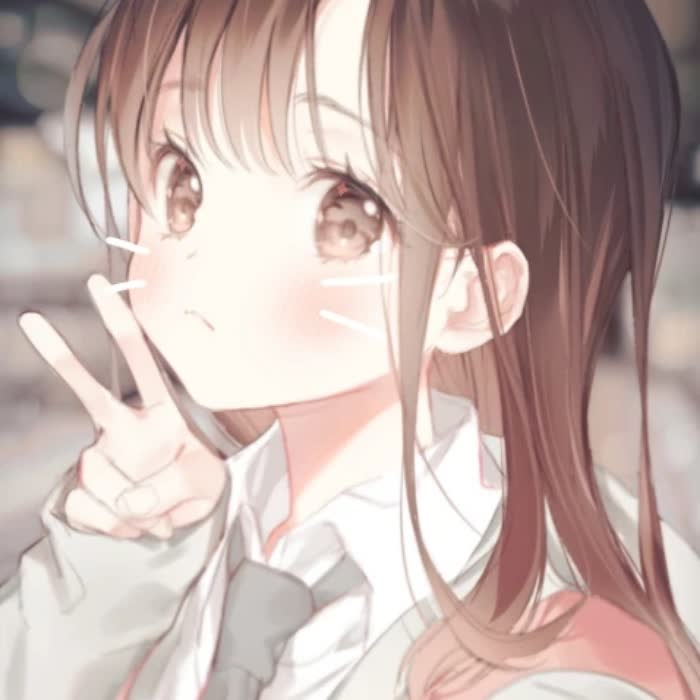 清甜日系软萌动漫女生头像图片