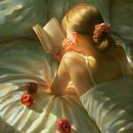 安静读书女生头像图片,静享读书时刻