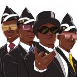 专业团队黑人抬棺五人漫画头像图片,兄弟们,干活了