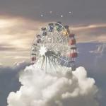 云朵中摩天轮头像图片