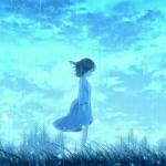 寂寞伤感雨中漫画女生头像图片,只有夜雨才是我的归宿