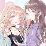 甜蜜可爱闺蜜姐妹漫画头像图片