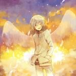 青春励志漫画少年头像图片,长了翅膀的漫画少年
