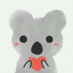 可爱卡通小动物感恩头像图片,小动物手捧爱心