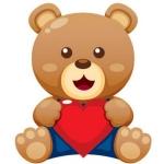 泰迪熊卡通图片头像,高清可爱的泰迪熊卡通头像图片