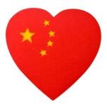 心形国旗微信头像图片,好看有创意的中国桃心五星红旗图片头像