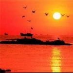 微信头像红太阳图片,唯美好看光芒四射的红太阳图片头像