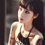 神仙颜值纹身女生头像图片