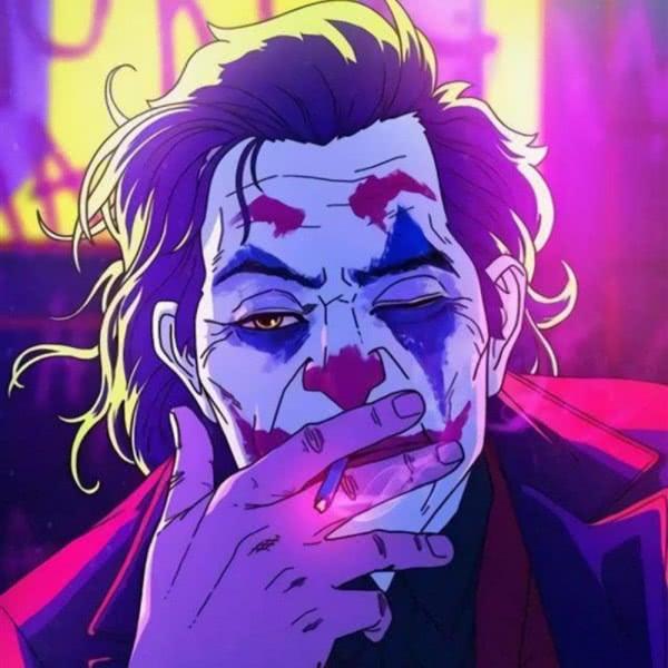 成熟深沉小丑抽烟头像图片