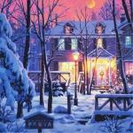 治愈系冬日风景头像图片