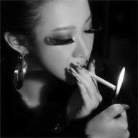 伤感头像女生黑白抽烟图片大全