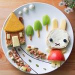 儿童创意爱心早餐图片头像大全 爱心满满