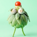 蔬菜头像创意水果 可爱创意水果蔬菜制作的头像