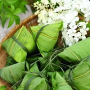 端午节粽子绿色清新头像图片