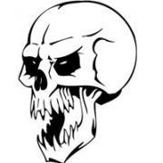 黑白骷髅头像图片大全 黑白色的冷酷霸气骷髅图片头像