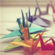 个性千纸鹤头像 好看的千纸鹤唯美清新头像