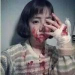 带血女头 另类恐怖的可怕头像女生带血图片