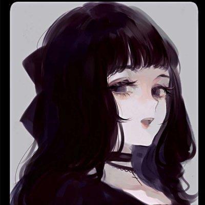 暗黑系二次元女生头像
