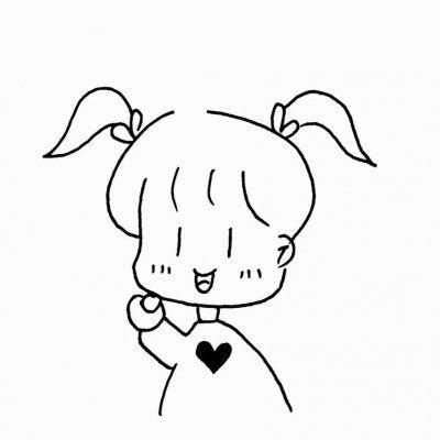 小女孩简笔画头像图片大全,高清可爱的小女孩头像简笔画