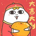 小刘鸭新年头像 高清可爱喜庆的小刘鸭过年图片头像