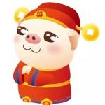 财神猪图片头像图片 高清红色喜庆的发财猪头像图片