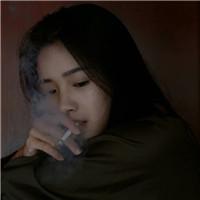孤独一个人抽烟伤感女生头像