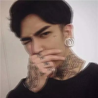 纹身qq头像男生
