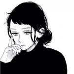 情侣头像一男一女黑白动漫图片