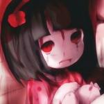 女生头像动漫可怕黑暗冷酷带血图片