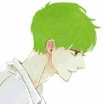 绿色头发男生动漫头像 高清帅气的绿色头像动漫图片
