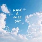清新可爱蓝天白云头像 在天空中画出可爱图案头像图片