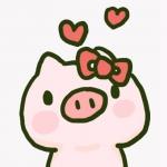 超甜可爱情侣头像猪猪,超萌可爱猪猪情侣头像一对高清卡通图片